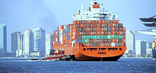 big container ship peru